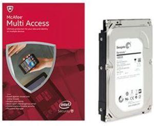 "Seagate 1TB 3.5"" Hard Drive - ST1000DM003 + McAfee Multi-Access"