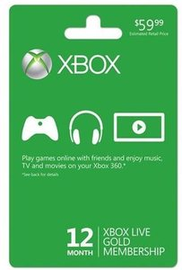 Xbox Live Gold 12 Month Membership (Physical Card)