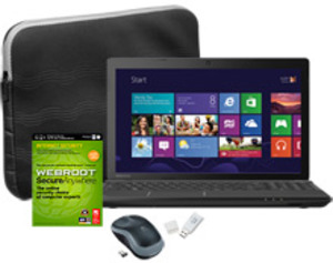 Toshiba Satellite C55-A5308 Core i3-3120M, 4GB RAM + Internet Security Software, Sleeve, Logitech Mouse and 4GB Flash Drive