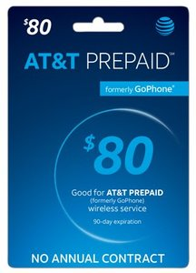$80 AT&T Prepaid Phone Card (Email Delivery)