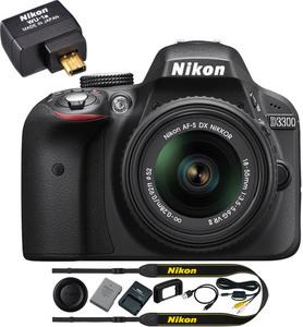Nikon D3300 24.2 MP DSLR Camera + 18-55mm Lens + WiFi Adapter