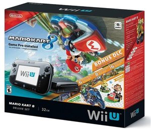 Wii U Console 32GB Deluxe Set with Mario Kart 8 + DLC Bundle