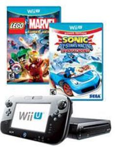 Wii U Console 32GB Deluxe Set + Super Mario 3D World + Nintendo Land
