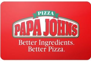 Papa Johns $25 Gift Card (Email Delivery) + 2x Large One Topping Pizza