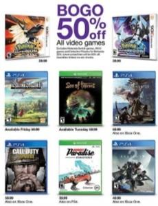 Target: Buy 1 Games Get 1 50% Off