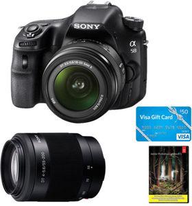 Sony Alpha SLT-A58K 20.1 MP Digital SLR + 18-55mm Lens and 55-200 Lenses + $50 Gift Card