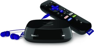 Roku 3 Streaming Media Player with Voice Search (Refurbished)
