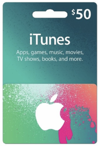 Apple iTunes $50 Gift Card