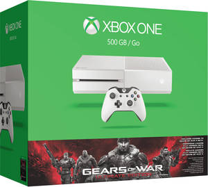 Xbox One Gears of War: Ultimate Edition 500GB Bundle (White) + Extra Controller + Minecraft
