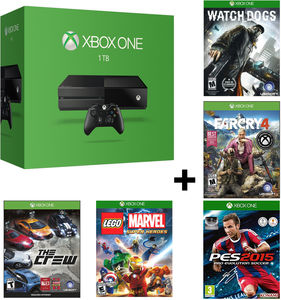 Xbox One Console (Refurbished) +  Free 5 Games