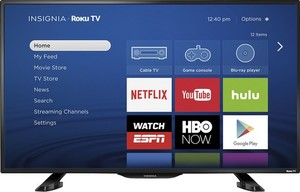 Insignia NS-39DR510NA17 39-inch 1080p Roku Smart LED HDTV (New Open Box)