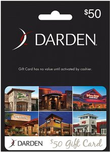 $50 Darden Restaurants Gift Card