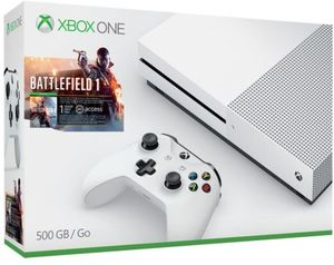 Xbox One S 500GB Battlefield 1 Bundle (Gray or White) + Two Free Games