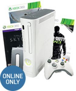 Xbox 360 20GB Bundle + Call of Duty Modern Warfare 3 + Elder Scrolls V: Skyrim + Destiny (Pre-owned)