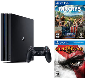 PlayStation 4 Pro 1TB Console + Far Cry 5 + God of War III Remastered
