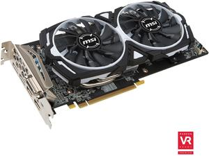 MSI Radeon RX 480 ARMOR OC 8GB GDDR5 Video Card + Doom (Game Code)