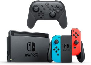 Nintendo Switch (Neon Joy-Con) + Pro Controller