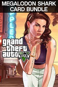 Grand Theft Auto V & Megalodon Shark Cash Card Bundle (Xbox One Download) - Gold Required