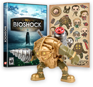 BioShock: The Collection Big Daddy Vinyl Figure & Sticker Pack Bundle (PS4/Xbox One)