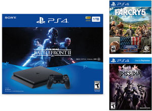 PlayStation 4 Slim 1TB Star Wars Battlefront II Bundle + Far Cry 5 + Dissidia Final Fantasy NT