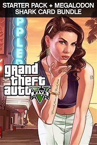 Grand Theft Auto V, Criminal Enterprise Starter Pack and Megalodon Shark Card Bundle (Xbox One Download)