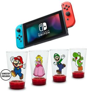 Nintendo Switch Neon Joy-Con + Party Arcade + Aqua Moto Racing Utopia