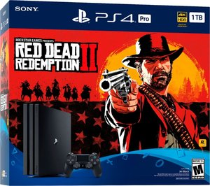 PlayStation 4 Pro 1TB Red Dead Redemption 2 Bundle + $50 GameStop Digital Gift Card