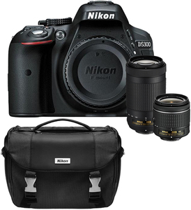 Nikon D5300 DSLR Camera with 18-55mm & 70-300mm Lenses + Carrying Bag