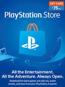 $75 PSN Store Credit (PS4 Download)