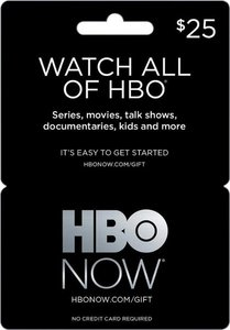 $25 HBO NOW Gift Card