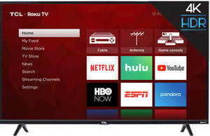 TCL 55S425 55-inch 4K HDR Roku Smart LED TV