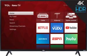 TCL 43S421 43-inch 4K HDR Roku Smart LED TV + Google Home Mini (Aqua) & Frozen II Book