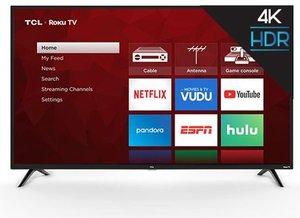 TCL 65S421 65-inch 4K HDR Roku Smart LED TV + 2-Pack Google Home Mini Bundle