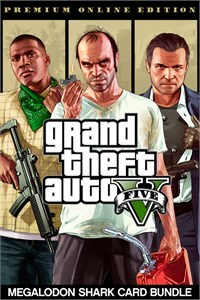 Grand Theft Auto V Premium Online Edition & Megalodon Shark Card Bundle (Xbox One Download) - Gold Required