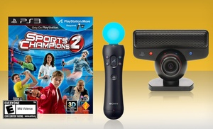 Playstation Move Bundle (Eye Camera, Controller) with Sports Champions 2